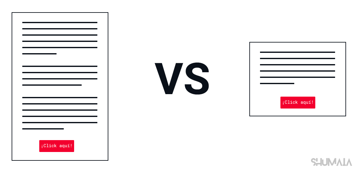 Documento largo versus documento corto